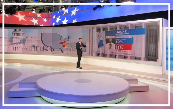 US election night, 2012