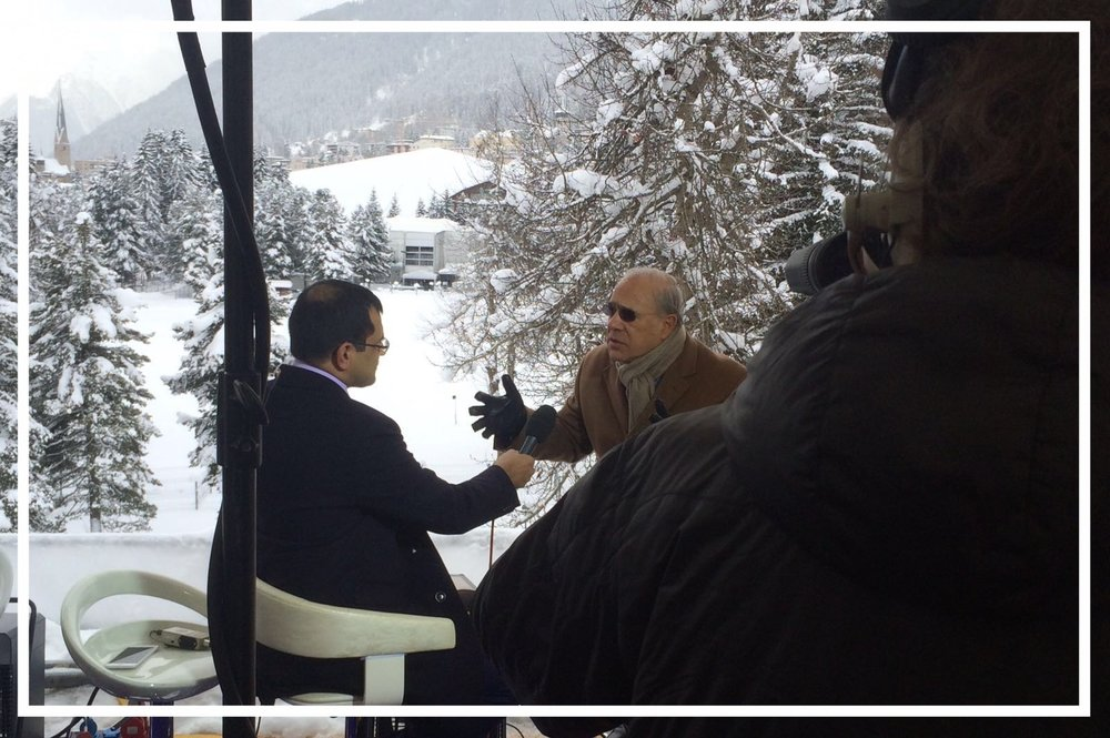 Reporting from the World Economic Forum in Davos, 2016