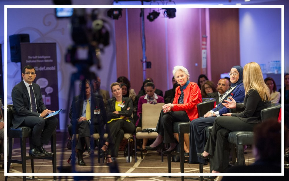 Moderating a televised panel discussion for  Counting the Cost  at Women in Energy Summit, Doha (2015)