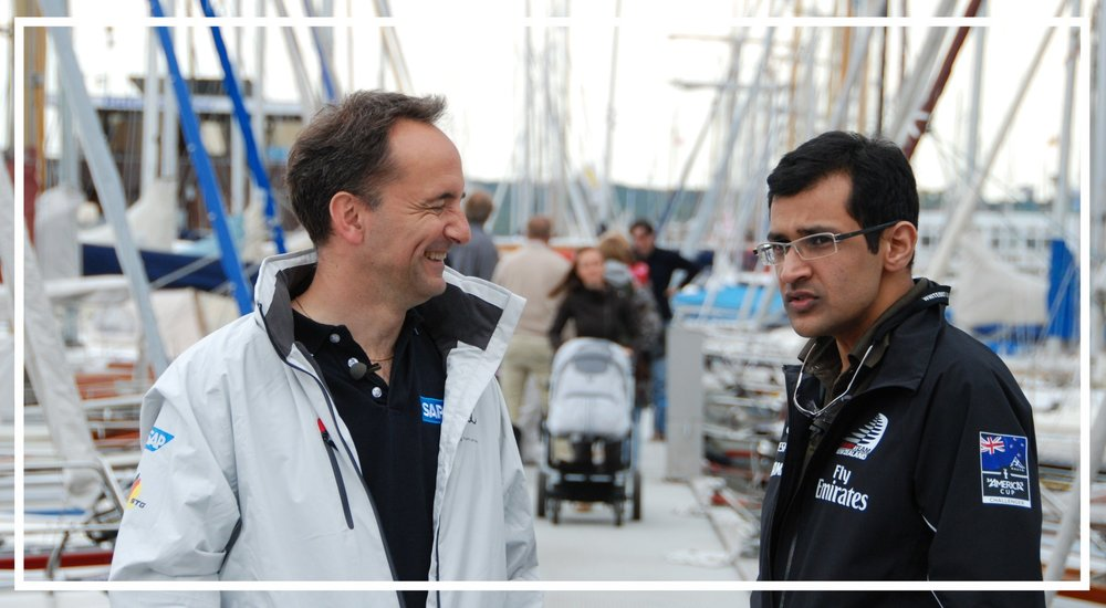 Interviewing former SAP CEO Jim Snabe in Germany, 2012