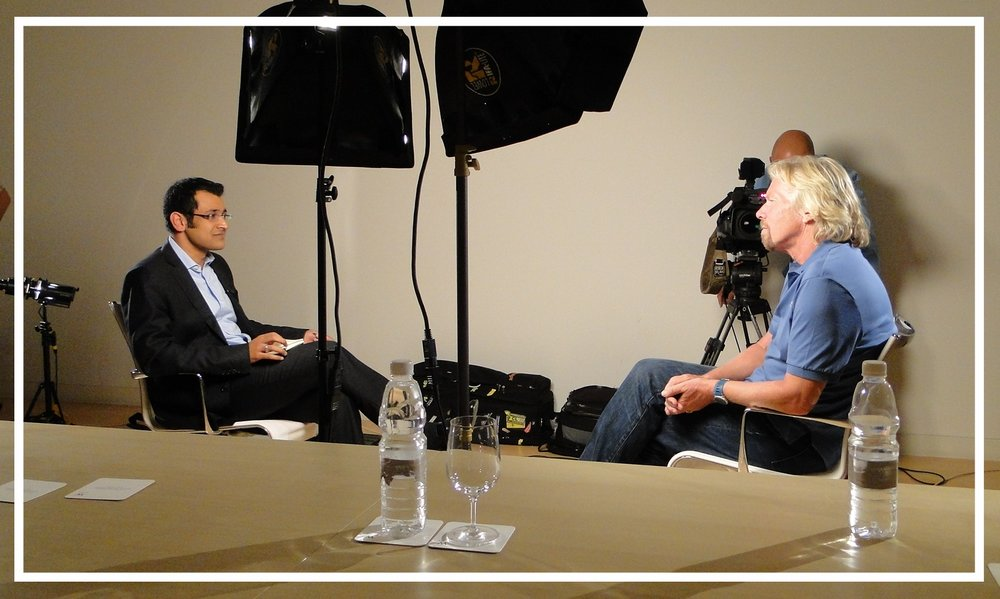 Interviewing Virgin founder Richard Branson, 2010
