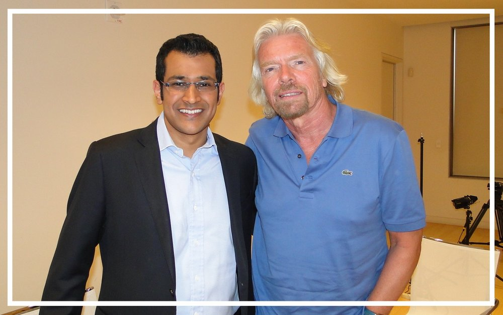 With Virgin founder Richard Branson, Doha (2010)
