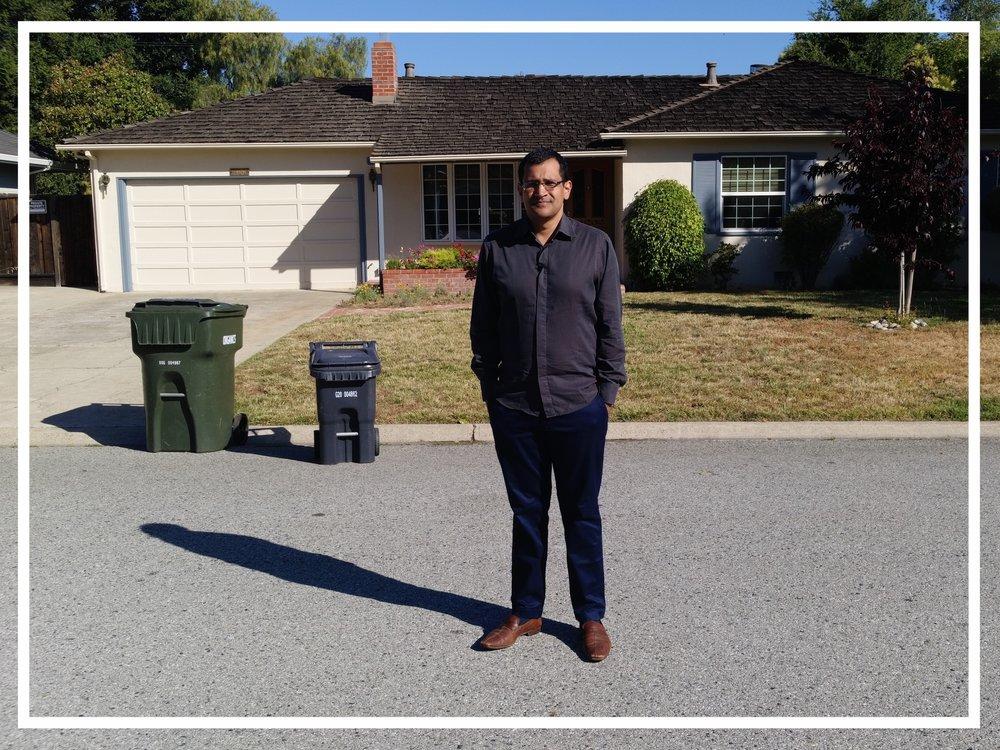 At the family home of Steve Jobs, where Apple was founded (Los Altos, 2016)
