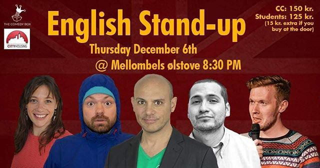 Tonight in Bryne @mellombels English comedy comes to Jæren #standup #Comedy #jæren #bryne #norway