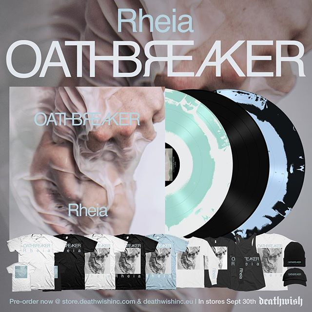 "Listen to ""Needles In Your Skin"" now at @metal_injection . Pre-orders for ""Rheia"" are up at www.theoathbreakerreigns.com."