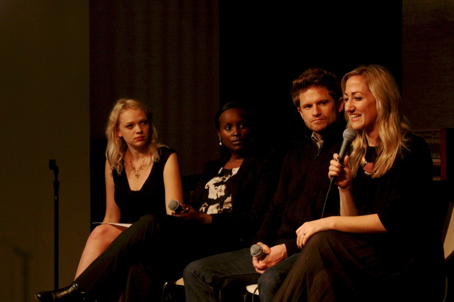 Faces of Courage panel: (from left) Hannah Smith, Jacqueline Murekatete, JD Stier and Cassandra Lee (credit: Haylee Wasson)