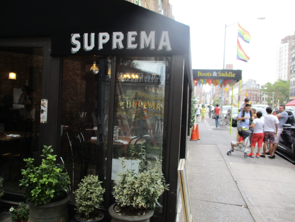 uprema storefront on Bleeker Street