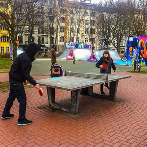 Image result for berlin public space ping pong