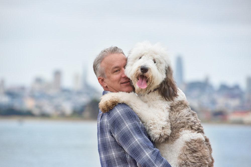 dog dad photo San Francisco
