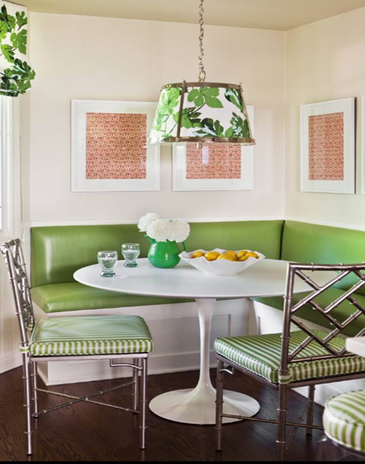 Pop of color Banquette