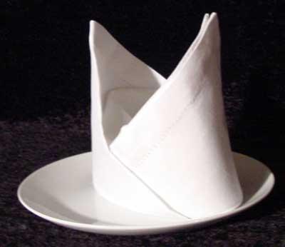 Bishops Hat Fold by napkinfoldingguide.com