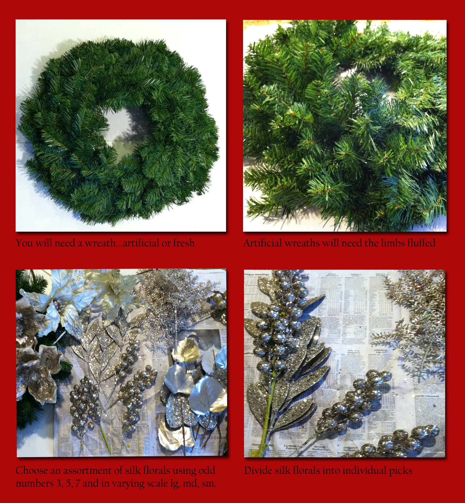 have fun creating your designer christmas wreath send us your christmas decor photos we would love to see them be sure to visit us on pinterest for more - Hobby Lobby Christmas Wreaths