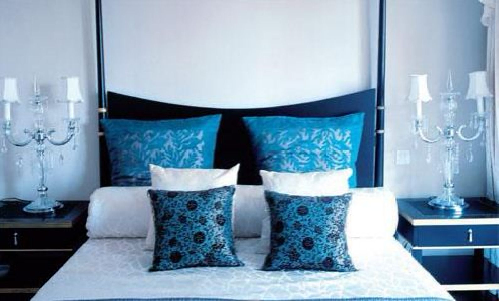 Modern 2011 Interior Design Girls Bedroom Cute Blue and White