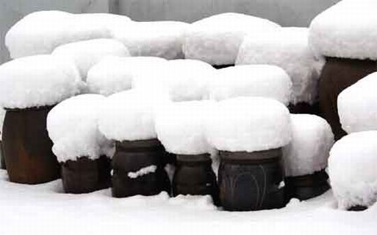 The Snow Stools by Baek-Ki Kim