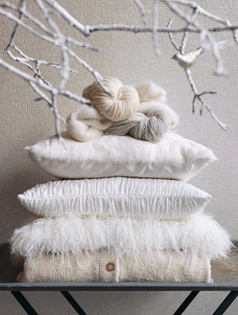 Wintery White Pillows