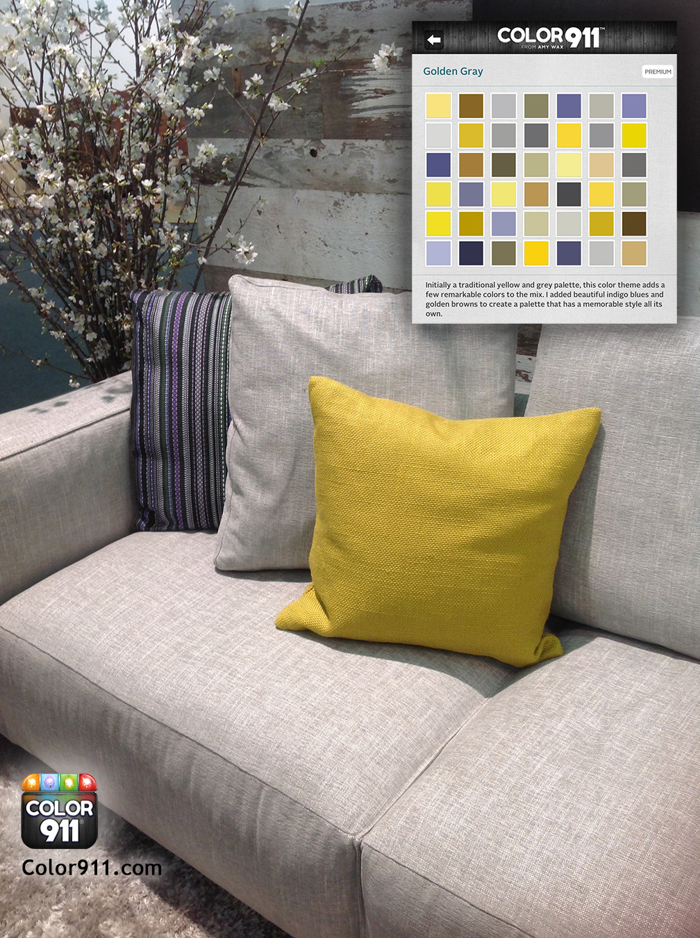 Color911 - ADHDs2014 - Gray sofa - Golden Gray
