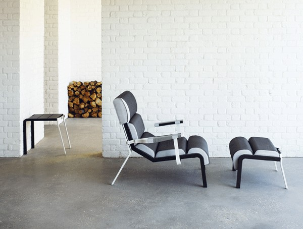 """Bob Club Armchair by Hella Jongerius for Kettal   Designed as a reinterpretation of the traditional garden chair, the aluminum frame, visible stitching, and winded yarn detailed armrests will turn any outdoor """"room"""" into an outdoor study.   Kettal  www.Kettal.com"""