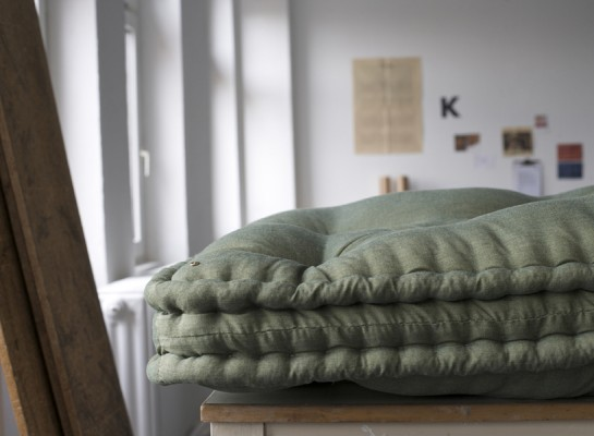 With practices developed over four generations, Swiss artist Daniel Heer continues to manufacture his family's horsehair mattresses, stuffing each by hand in his Berlin studio. Courtesy Daniel Heer.
