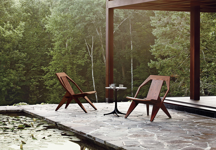 Medici Outdoor Chair by Konstantin Grcic  for Herman Miller through Design Within Reach   Semi-reclined & low-slung, the Medici finds its roots in the classic Adirondack, reinterpreting the American classic in the modern sense. Hand Oiled Ash ensures this perch remains deckside for years to come.  Design Within Reach  www.DWR.com