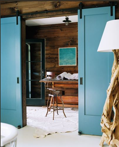 Sliding doors in a design by Meyer Davis.