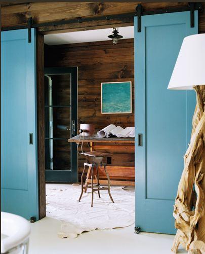 Sliding doors in a design by Meyer Davis.
