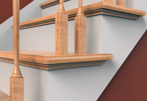 The addition of molding can also help to extend the depth of existing risers | Via Stairtek