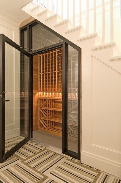 Wine cellar at 55 Mill Lane, East Hampton | Photo courtesy Corcoran Real Estate