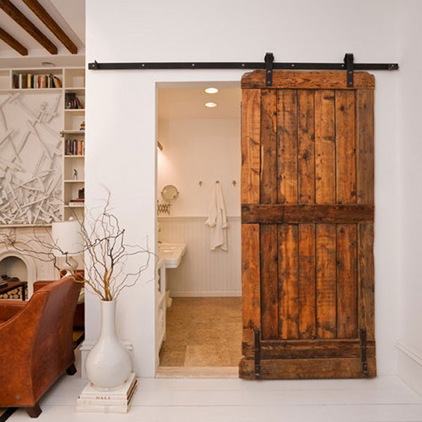 Perfect Reclaimed Sliding Barn Door By Brooklyn Home Company. Image By Emily  Gilbert Photography