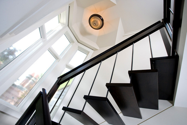 A modern staircase in Seattle.  Photo courtesy Seattle Stair & Design