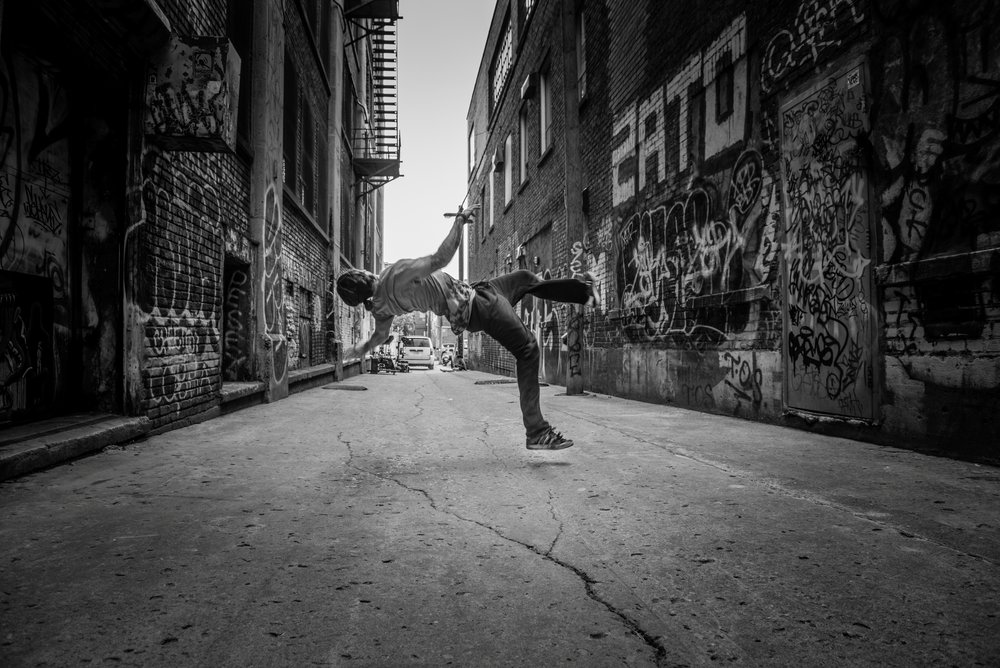 "Crack the Cypher 2016 | Canada | 7'28"" Director: Marites Carino Choreographers: Tentacle Tribe (Emanuelle Lê Phan, Elon Höglund) A B-boy's curiosity lures him away from an urban meander towards a kinetic adventure."