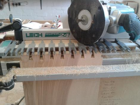 Machine cut dovetails