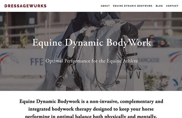 🚨NEW WEBSITE🚨 Leslie Kennedy is a highly respected former dressage rider and current trainer, Equine Canada judge and FEI Steward. But Leslie's real passion is her Equine Dynamic Bodywork. Leslie's DressageWurks caters to horses all the way up to the Grand Prix level. DressageWurks needed a website refresh, like Most websites built before 2015, DressageWurks was dated and not mobile friendly. Using the @squarespace platform we built her a new portal to show of her work and super interesting blog about training, bodywork and her views as a top level judge.  What can we do for you?