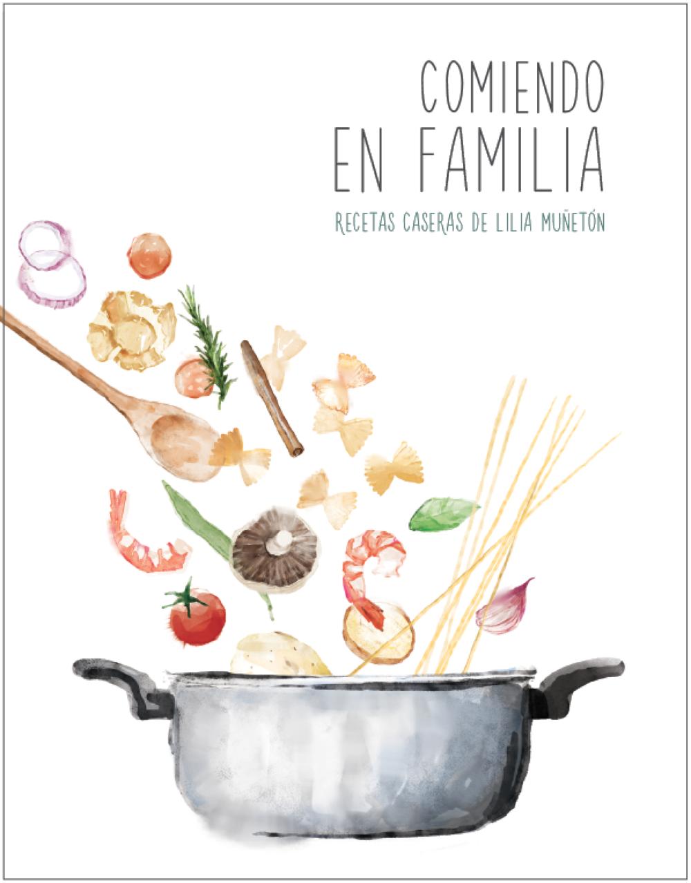 """Book cover for """"Comiendo en Familia"""