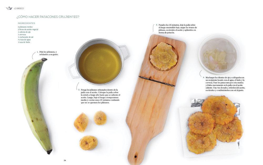 Step-by-step recipe design.