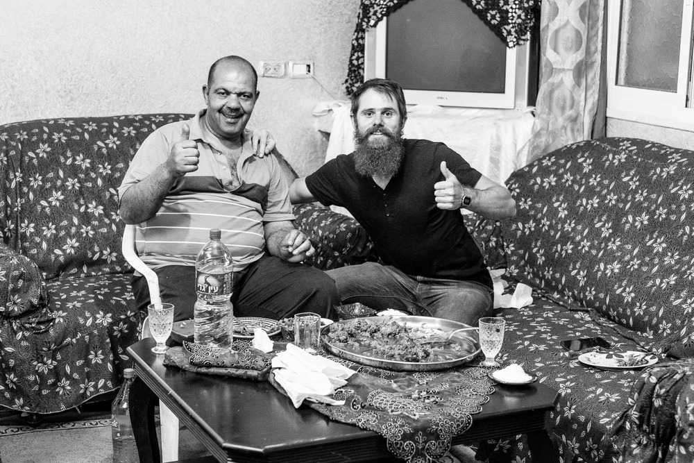I had the priveladge the one evening to be invited to join Sammie at his home for a wonderful local palestinian meal.