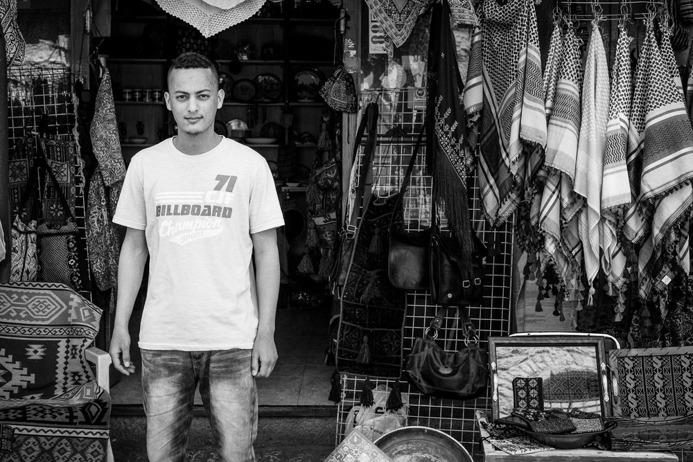 Ali Sobh, Shop keeper, Manger Square.