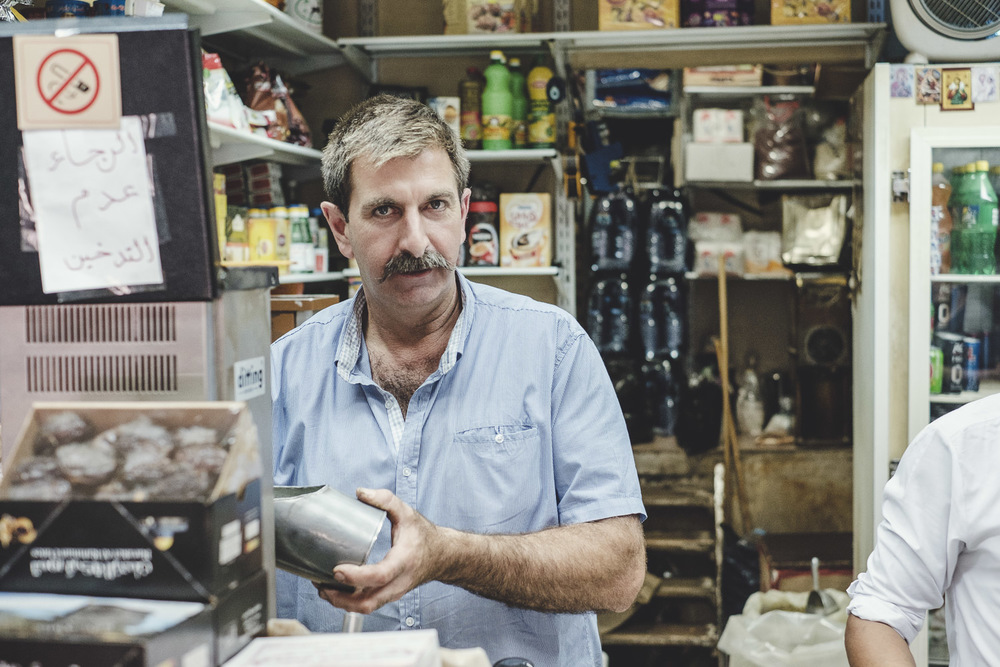 Passionate about his Coffee and his mouchstache, I had no trouble connecting with my friend whilst buiyng some Arabic coffee from his shop.