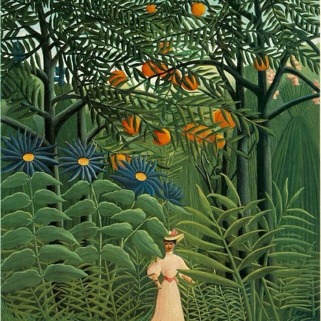 The perfect day for a stroll in the park... #henrirousseau #sauceofnature #inspiration