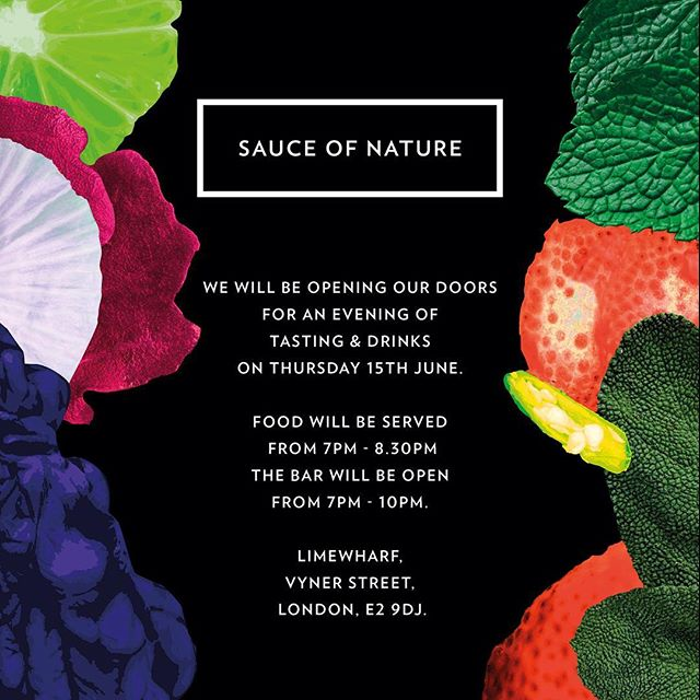 Come join us! 🌿#sauceofnature #tastings #londonfood