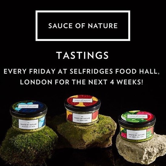 Don't forget, we're back @selfridgesfood today, from midday. Happy Friday y'all ✌🏼️#sauceofnature #selfridgesfoodhall #londonfood