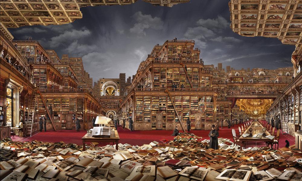 Bibliothèque idéale 1  , 2006, 180 x 300 cm
