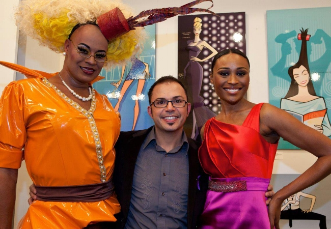 I was clearing surrounded by towering divas that evening. With EJ Aviance and Cynthia Bailey