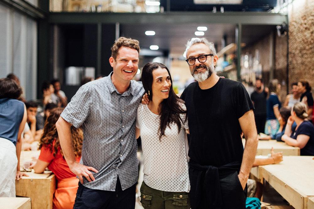 David Hertz, Ale Forbes e Massimo Bottura