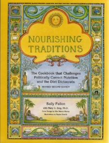 Nourishing Traditions                     by Sally Fallon   A cookbook and so much more.   Read the first 70 pages to understand the foundation of why these recipes will nourish your body. Each page has a history note and a recipe.  These recipes are quality slow food recipes.