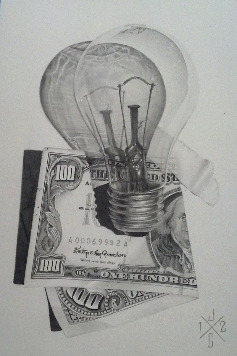 Light Bulb & Red Seal Note
