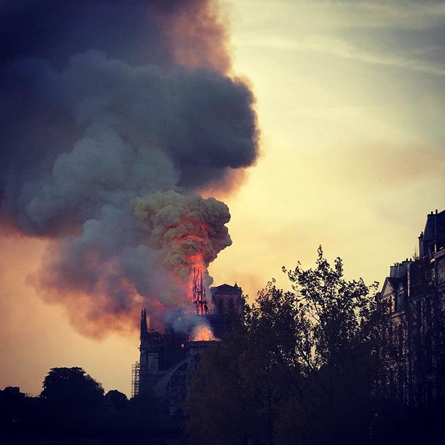 Sad, speechless, in shock. Notre-Dame Cathedral iN Paris holds a special place in our hearts and we can't believe the images on TV, but also from our colleague Jon who is close by — thankfully safe. #parisjetaime #notredameparis #travelerinparis #europeinsiders