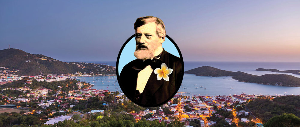A.H. Riise by Budtz Miller imposed upon Charlotte Amalie