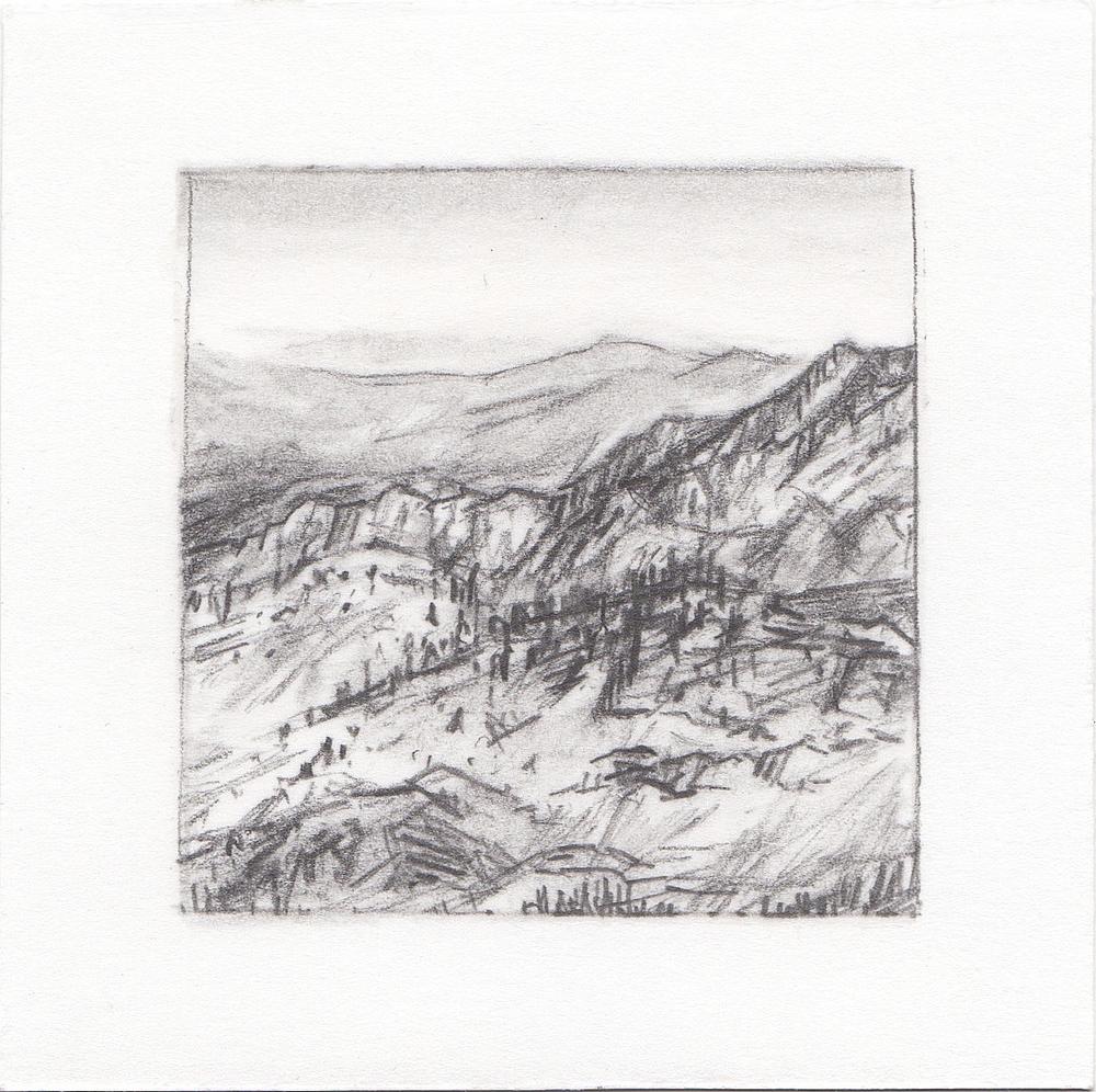 #1 Catherine Pass, Albion Basin, Utah | 3x3 | graphite