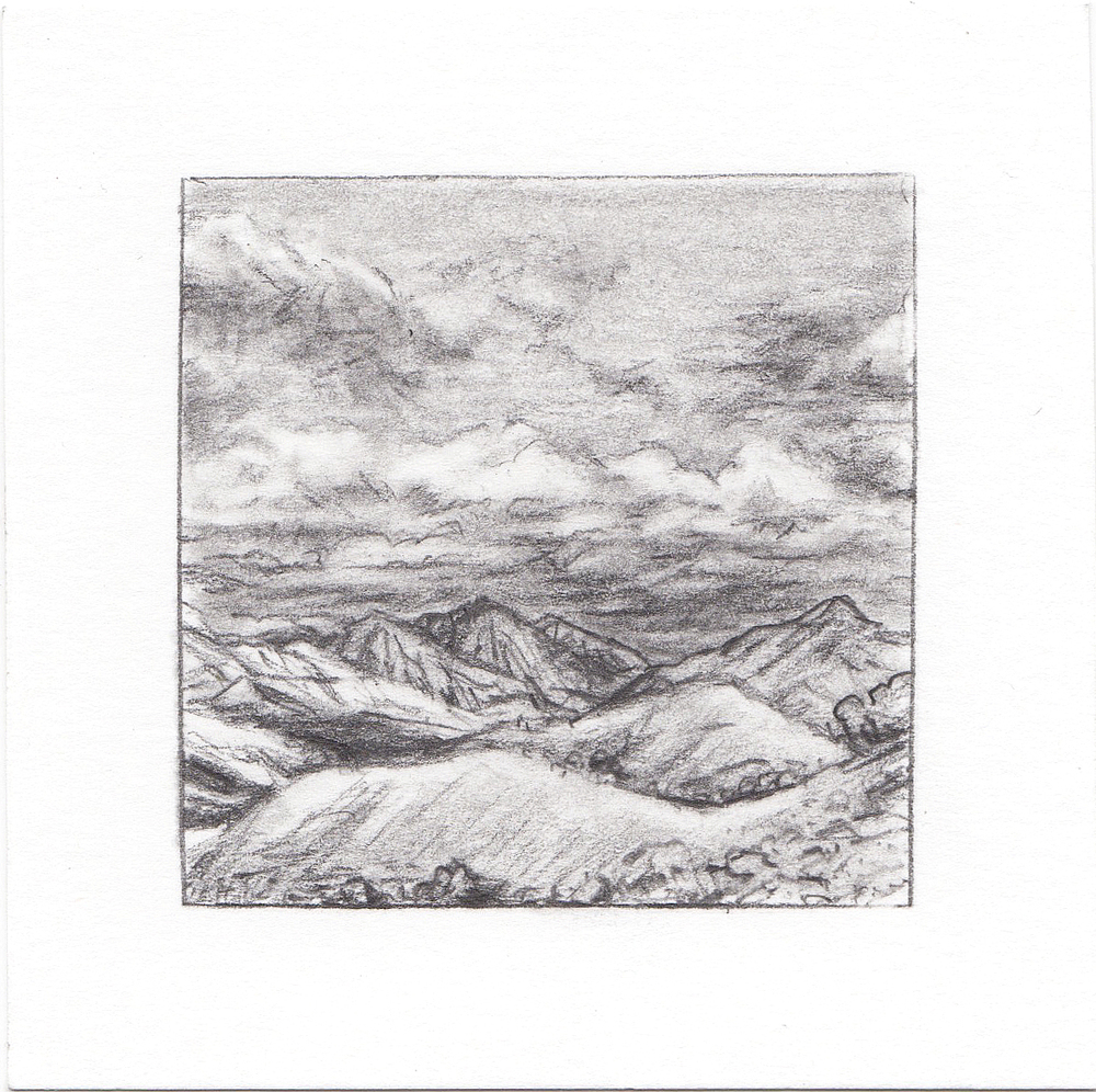 #3 Avenues Twin Peaks, SLC, Utah | 3x3 | graphite