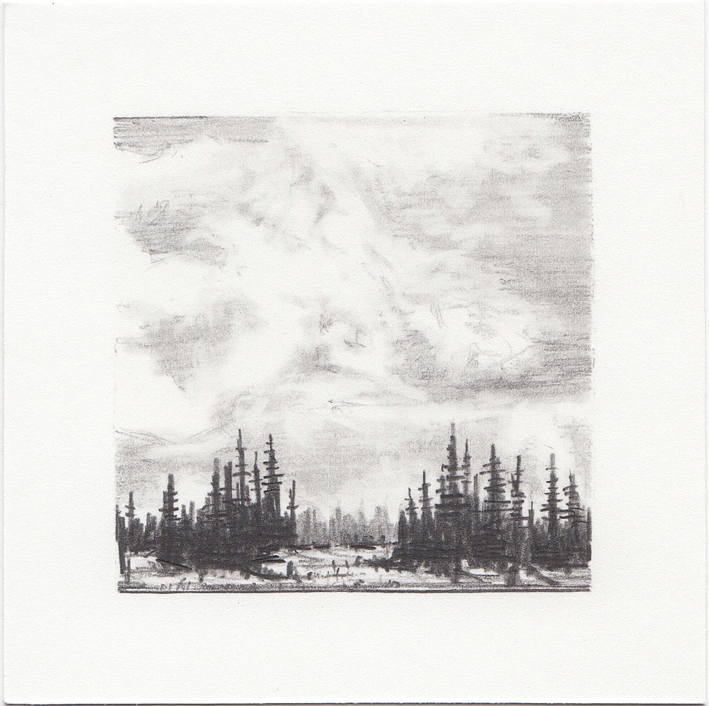 #6 Long Lake, Uinta Mountains, Utah | 3x3 | graphite